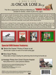 A Dogs Life - The Oscar Lose Story - DVD back